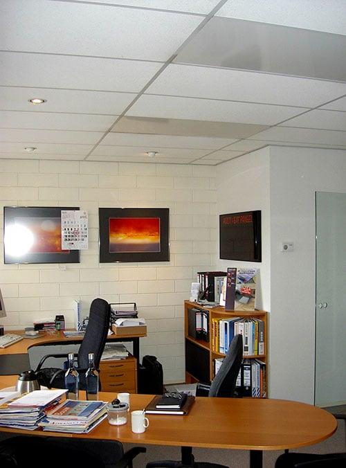 üzletfűtés, irodafűtés, infrapanel