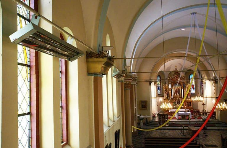 templomfűtés infra sugárzókkal